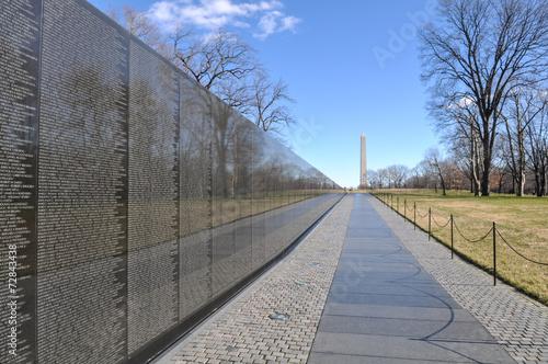 Vietnam War Memorial with Lincoln Memorial in Background - 72843438