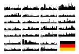 Silhoutten deutscher Großstädte