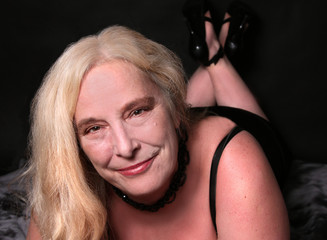Sexy woman in her mid fifties