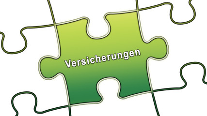 ptk37 PuzzleTeilGrafik ptk-v10 - Versicherungen - grün g2494