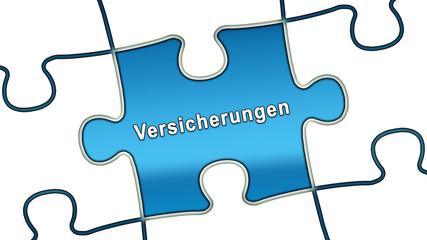 ptk38 PuzzleTeilGrafik ptk-v10 - Versicherungen - blau g2495