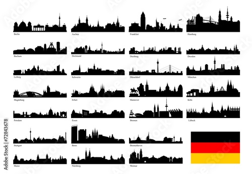 Silhoutten deutscher Großstädte - 72843678