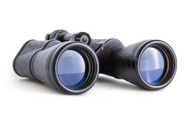 Soviet Army Binoculars Isolated on white