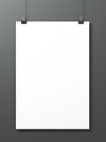 Sheet of paper on a gray background