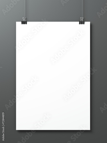 Sheet of paper on a gray background - 72844819