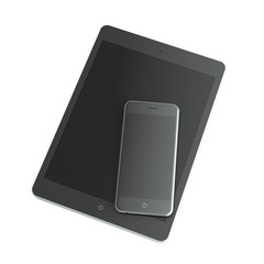 Black Tablet and smart phone