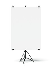 Tripod with blank sheet