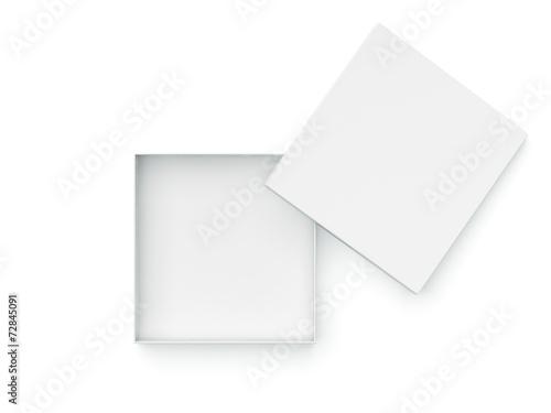 Leinwandbild Motiv White opened box