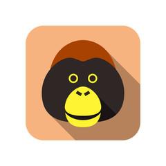 animal gorilla flat icon