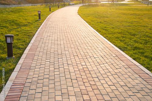 Fotobehang Tuin Sidewalk