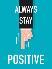 Word STAY POSITIVE