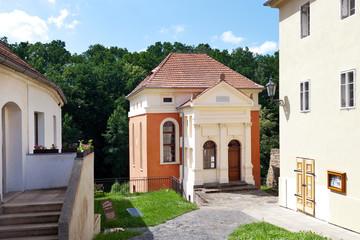 jewish synagogue, Ustek town, Litomerice region, Czech republic
