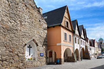 burgess houses, Ustek town, Litomerice region, Czech republic