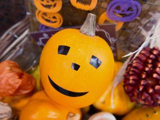 ハロウィンの飾りかぼちゃ