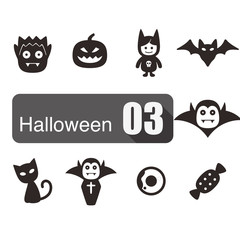 Halloween flat icon design