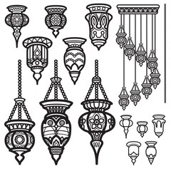 Lantern icon vintage