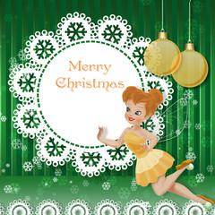 Рождество с феечкой и шарами