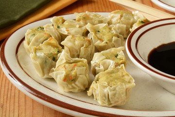 Chinese chicken dumplings