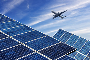 photovoltaic cells and airplane