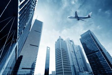 Aircraft on the Shanghai sky