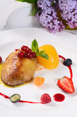 Foie Gras with toast and apricot