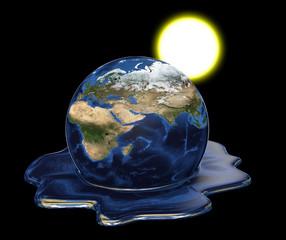Environmental disaster, parts of this image furnished by NASA