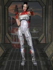 Futuristic sexy uniform