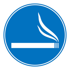 Sign smoking allowed