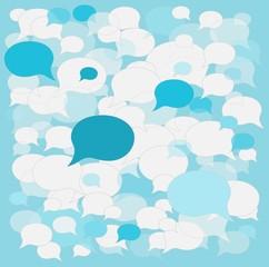 background speech bubbles