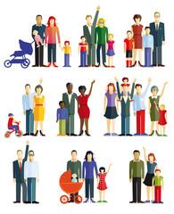 Familien und Paare