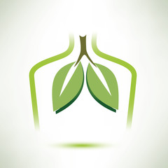 lungs isolated vector symbol stylized icon
