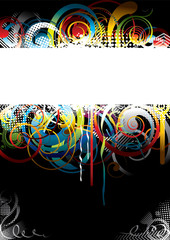 Black and withe colorfully background design