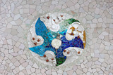 Trencadis Mosaic in Park Guell in Barcelona