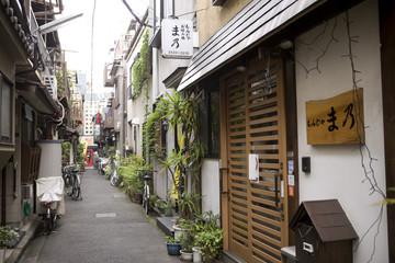 東京 月島の家並み