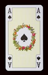Spielkarten der Ladys - Pik Ass