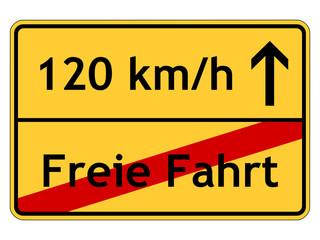 Tempolimit 120 km/h