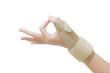 Постер, плакат: wrist with brace wrist support for carpal tunnel syndrome