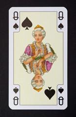 Spielkarten der Ladys - Pik Dame