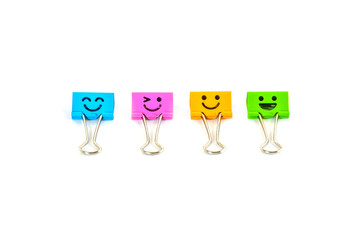 Smile colorful binder clips