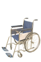 wheel chair on white background