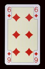 Spielkarten der Ladys - Karo Sechs