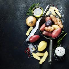 Cooking fresh potatoes