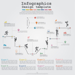 Infographic timeline elements with icons. Vector