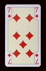 Spielkarten der Ladys - Karo Sieben
