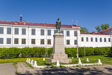 Arkhangelsk. Monument to the Russian Emperor Peter I (1914)