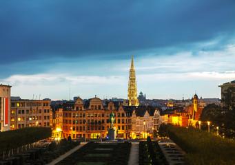 Overview of Brussels, Belgium