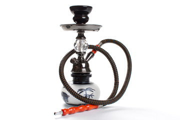 Hookah isolated on white.