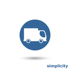 simple free delivery icon