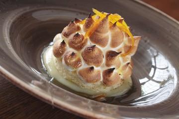 baked alaska dessert in bowl