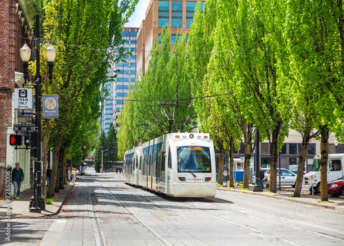 Light train of the Portland Streetcar system - 72860006